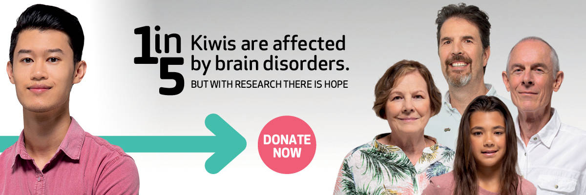 1 in 5 Kiwis are affected by brain disorders.